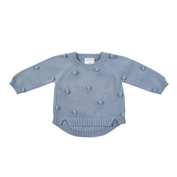 Bobby Hand Knit Sweater - Duck Egg Blue
