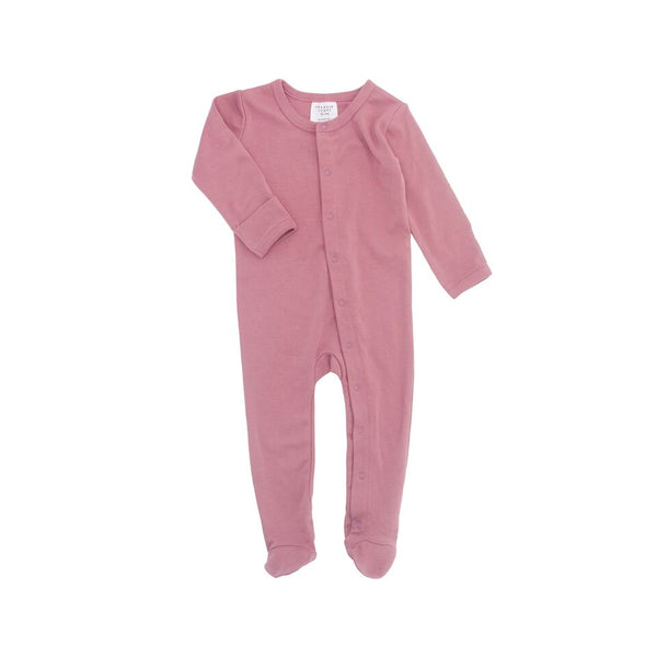 Frederik Footed Growsuit - Rose Pink