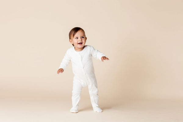 Frederik Footed Growsuit - Winter White
