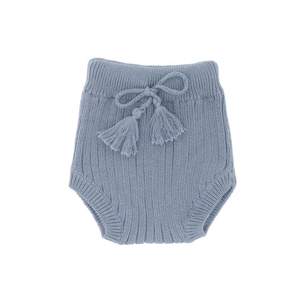 Luna Hand Knit Rib Bloomer - Duck Egg Blue