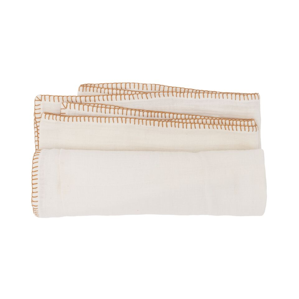 Melody Muslin Wrap - Winter White