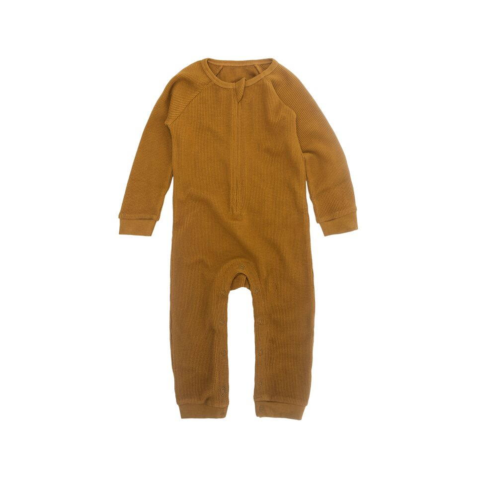 Perrywinkle Waffle Grow Suit - Golden