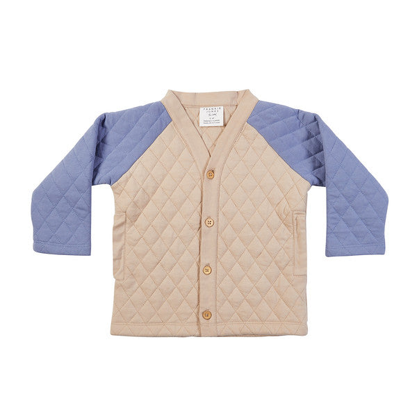 River Quilt Cardigan - Almond