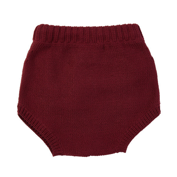 Harley Fringe Knit Bloomer - Burgundy