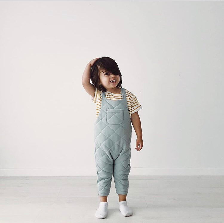 Quentin Quilted Overall - Duck Egg Blue