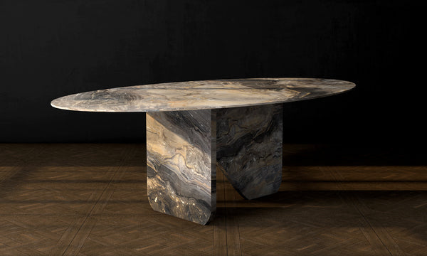 Marble Table Grey Arabescato