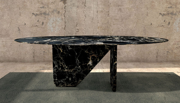 Marble Table Black Portoro