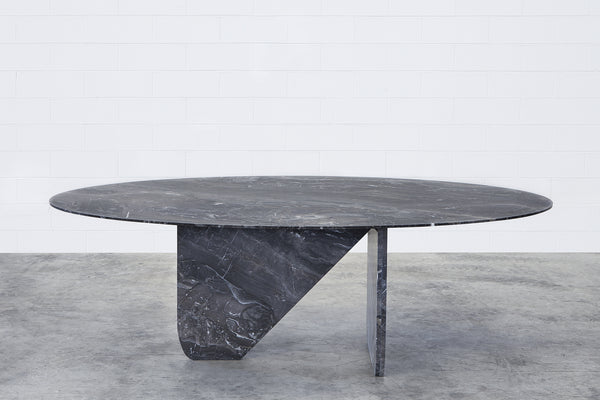 BLACK ARABESCO MARBLE TABLE