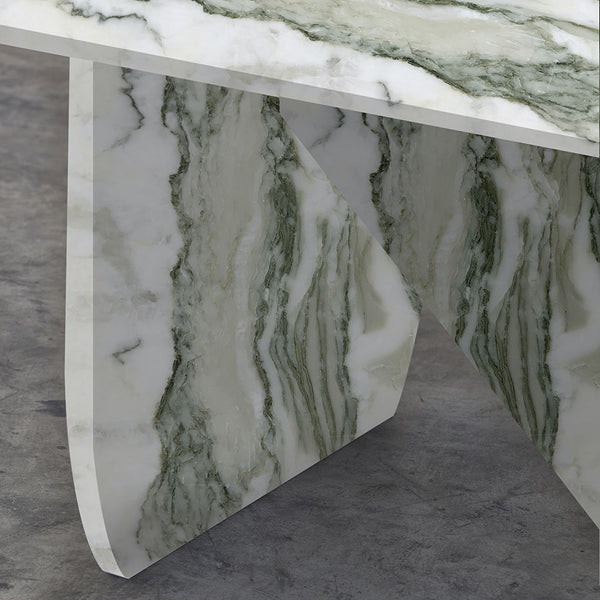 GREEN CIPOLLINO APUANO MARBLE TABLE