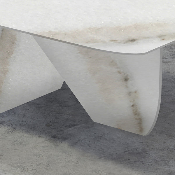 WHITE LASA MARBLE TABLE