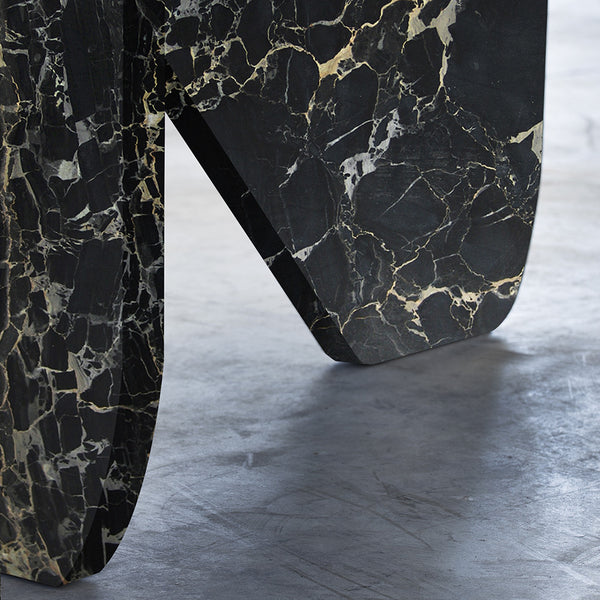 BLACK PORTORO MARBLE TABLE