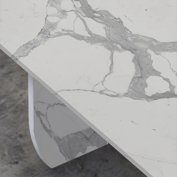 WHITE CARRARA STATUARIO MARBLE TABLE