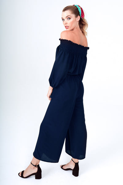 Barcelona Jumpsuit in Navy