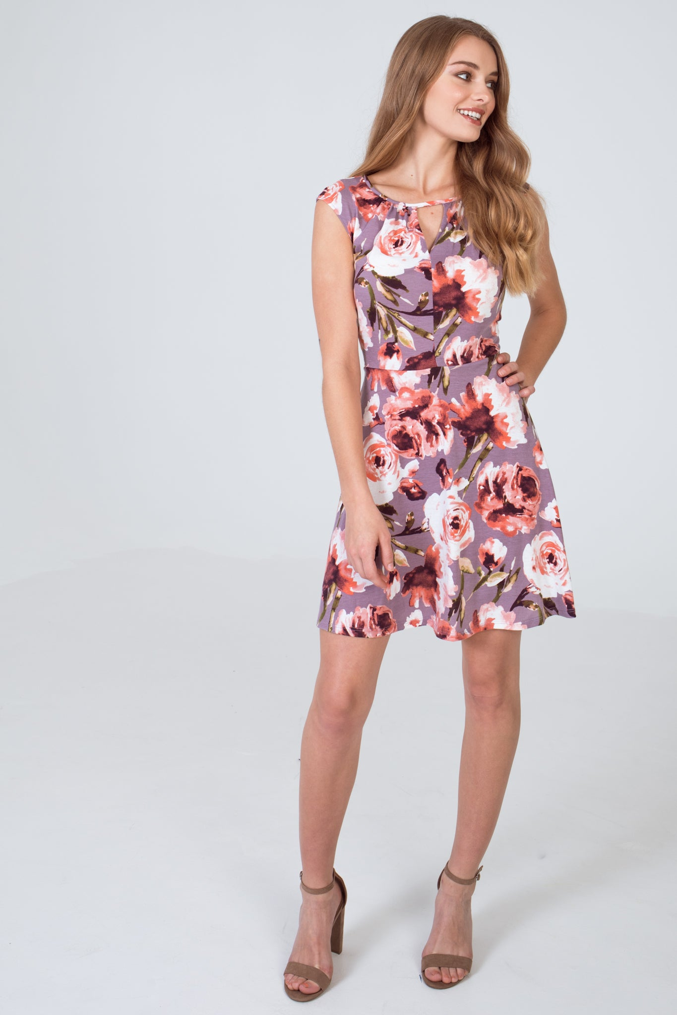 Yummy Knit Skater Dress - Wild Orchid