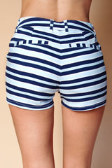 Striped Pocket Shorts