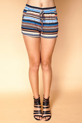 Multicolored Striped Shorts