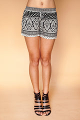 Pattern Striped Shorts