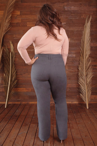 5 Pocket Bootcut Twill Pants - Plus Size