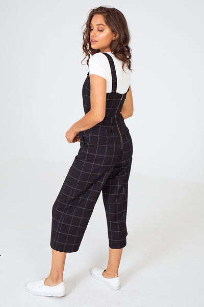Plaid overalls, overall jumpsuits for women, black plaid overalls, utility overalls