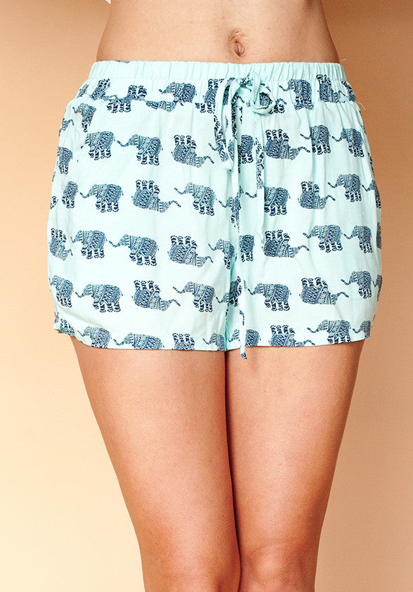 Walking Elephants Shorts