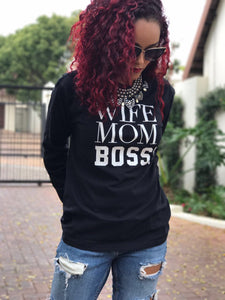 Wife Mom Boss t-shirts