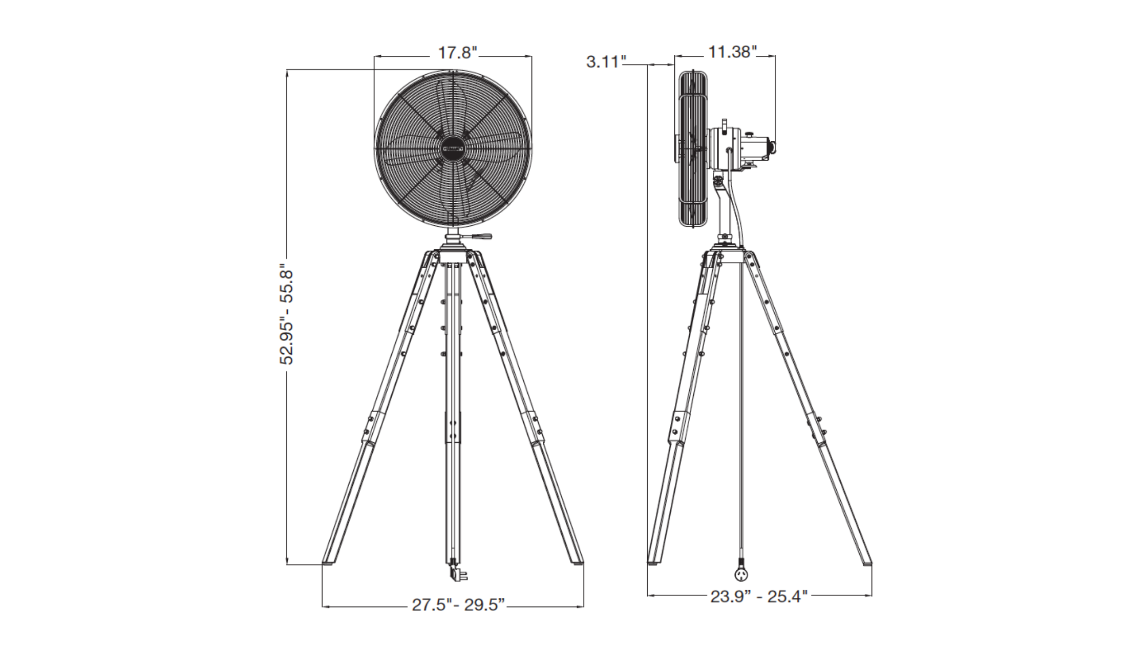 star tripod size sheet