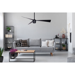 Matte Black Star 7 Ceiling Fan 52""