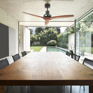 Black Star Propeller Indoor Outdoor Ceiling Fan