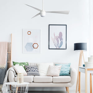 Matte White Star 7 Ceiling Fan 52""