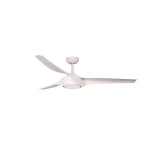 Matte White Star X Indoor Outdoor Ceiling Fan