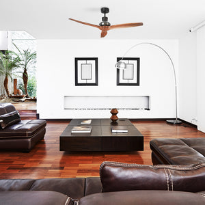 Brown Star Propeller Indoor Outdoor Ceiling Fan