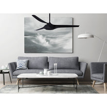 Load image into Gallery viewer, Matte Black Star X Indoor Outdoor Ceiling Fan