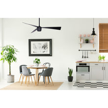 Load image into Gallery viewer, Matte Black Star 7 Ceiling Fan 52""