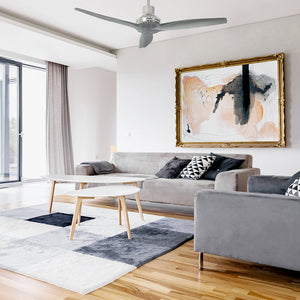 Grey Star Propeller Indoor Outdoor Ceiling Fan