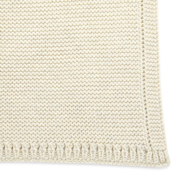 ORGANIC KNITTED CELLULAR BABY BLANKET (Linen, Dove Grey or Midnight)
