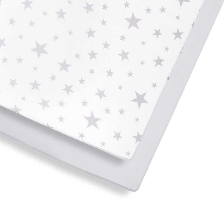2 Pack Cot & Cot Bed Fitted Sheet – Stars
