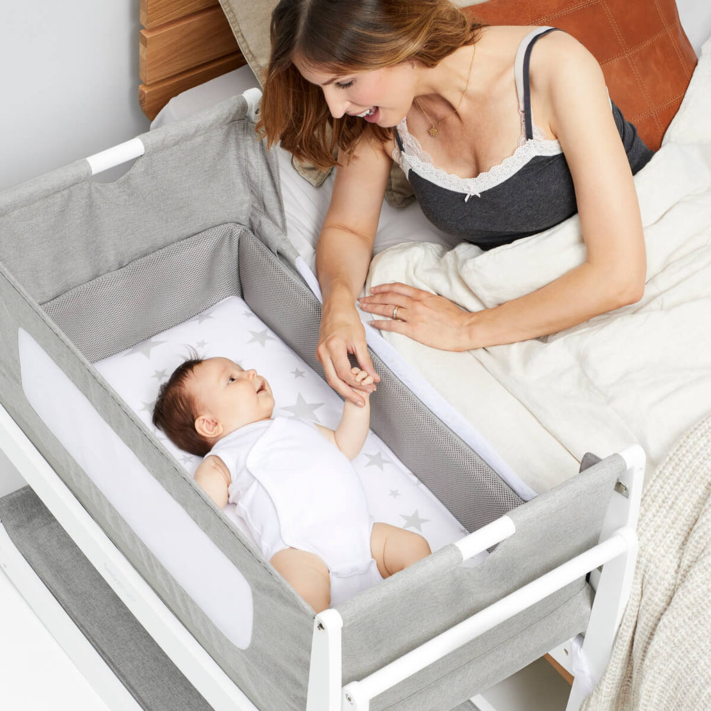 SnuzPod 4 Bedside Crib - Dusk - Mattress Included