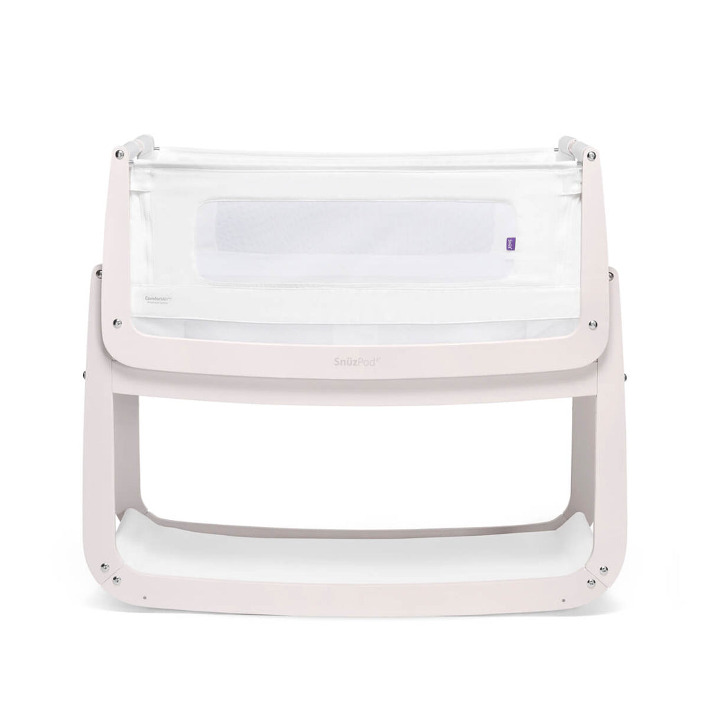 SnuzPod 4 Bedside Crib - Rose White - Mattress Included