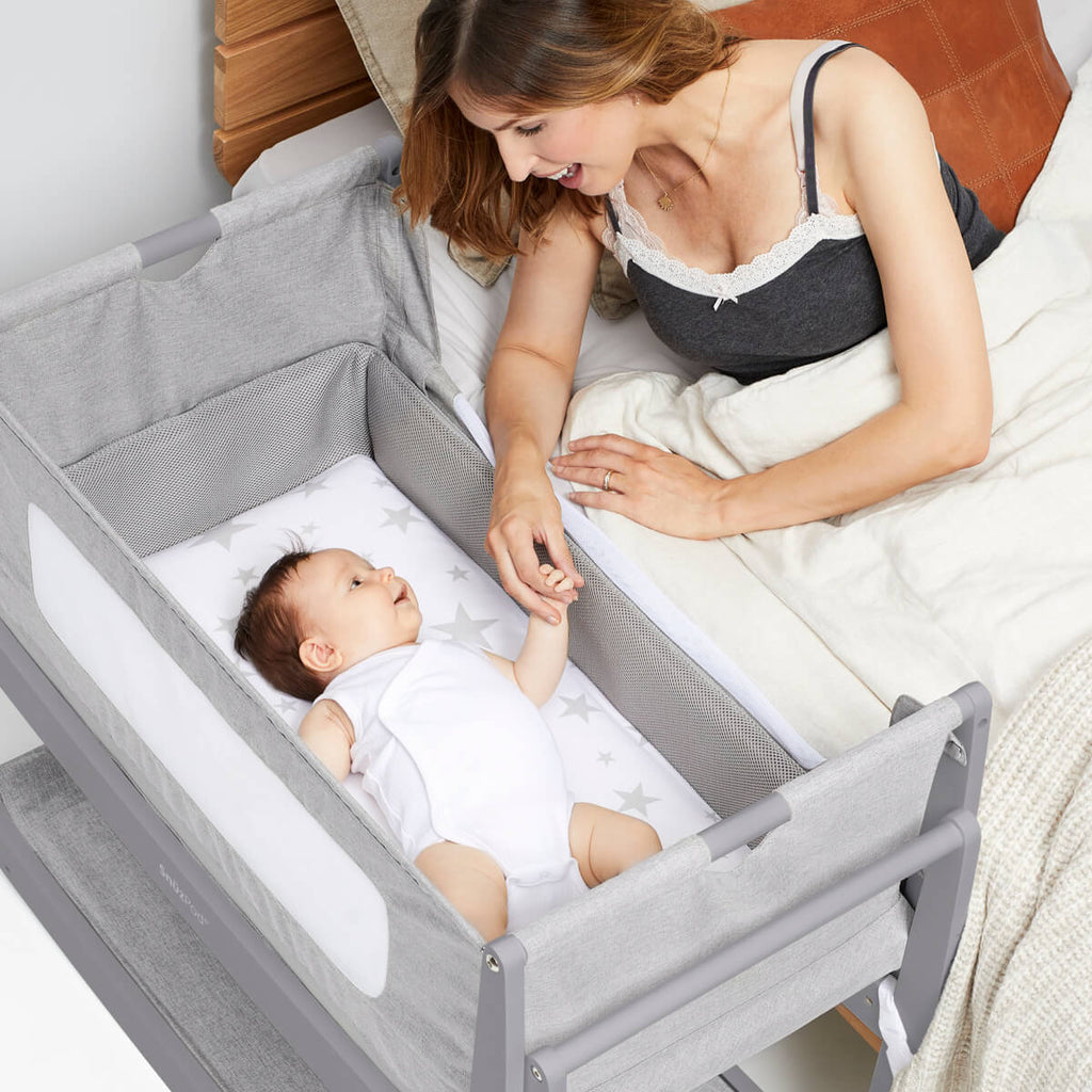 SnuzPod 4 Bedside Crib - Urban - Mattress Included