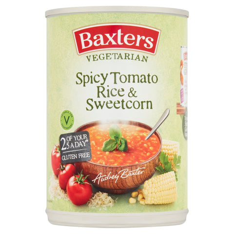 Baxters Vegetarian Spicy Tomato and Rice with Sweetcorn Soup 400g