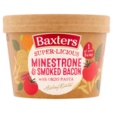 Baxters Super-Licious Minestrone & Smoked Bacon with Orzo Pasta 350g