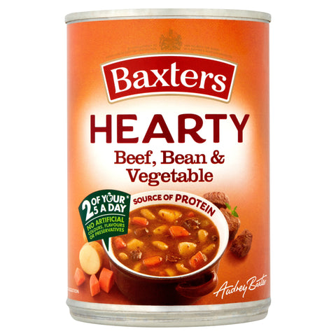 Baxters Hearty Beef, Bean & Vegetable Soup 400g