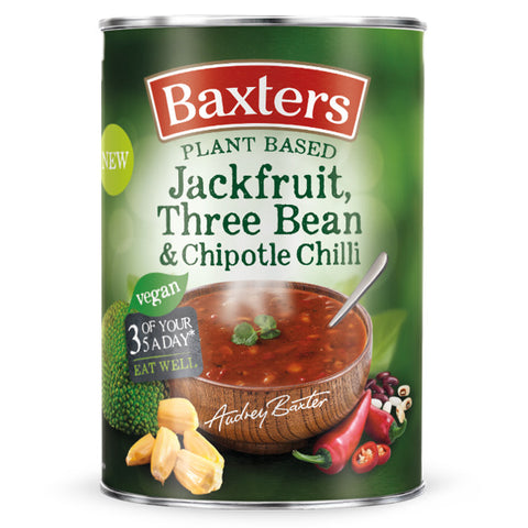 Vegan Jackfruit, Three Bean & Chipotle Chilli Plant Based Soup 380g