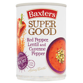 Baxters Super Good Red Pepper, Lentil and Cayenne Pepper Soup 400g