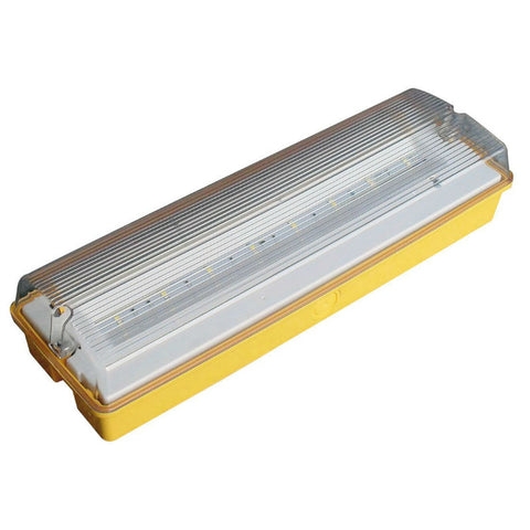 3 Watt 110V LED Maintained IP65 Emergency Bulkhead