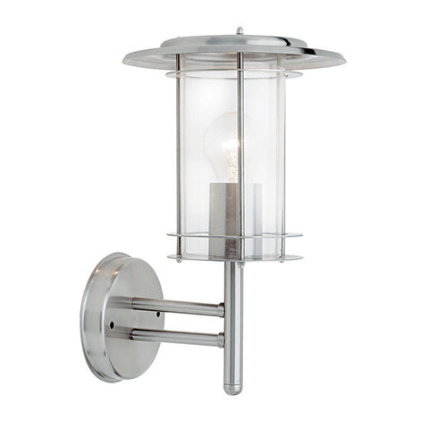 York 60 Watt IP44 Stainless Steel Wall Lantern