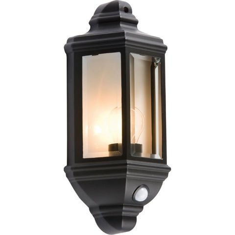 PIR Security Half Round Wall Lantern