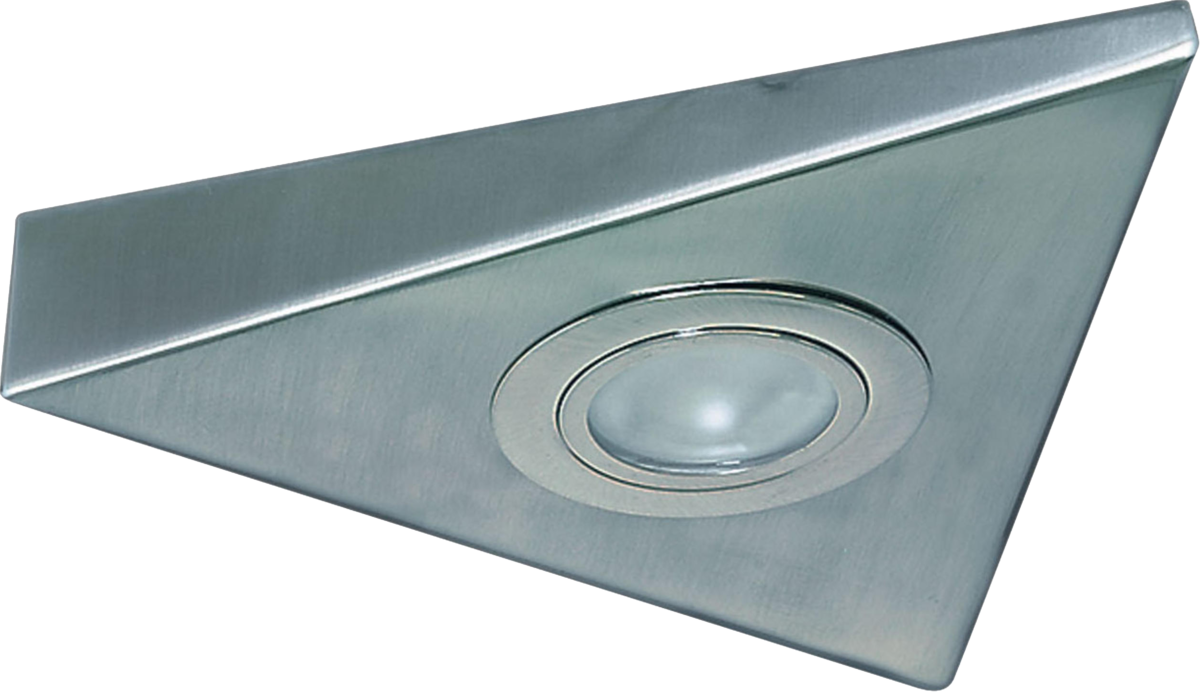 IP20 20W Mini Triangular Under Cabinet Fitting in Chrome