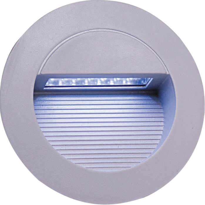 IP44 14 x White LED Grey Aluminium Round Recessed Wall Light