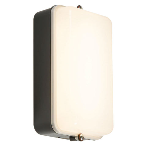5 Watt IP54 LED Black/Opal Amenity Bulkhead
